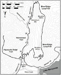 Stebbins Cold Canyon Map