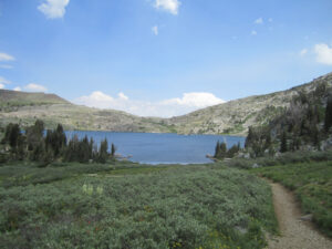 Looking back to Lake Winnemucca from Round Top trail