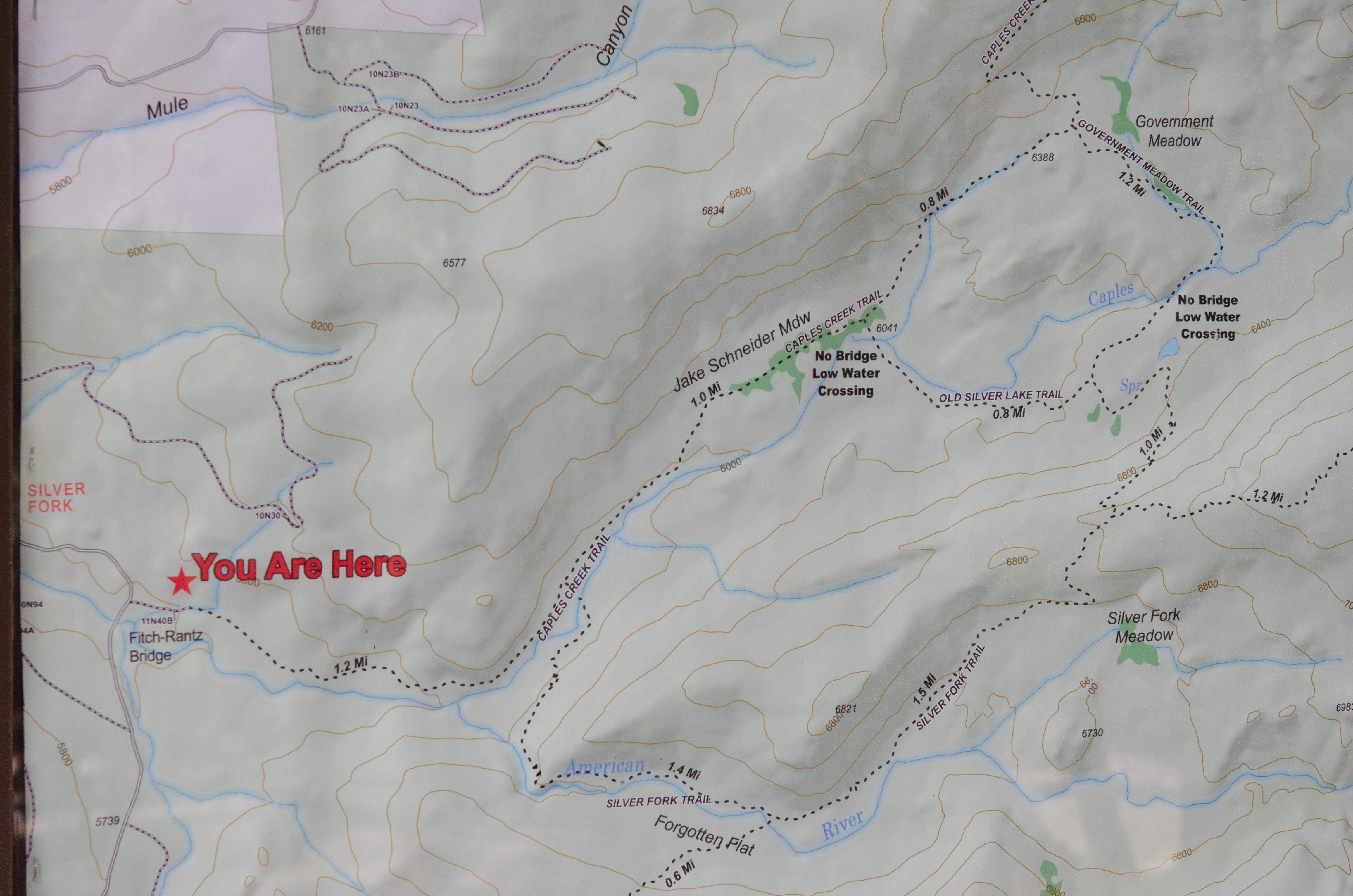 Caples Creek trail map